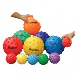 LOT DE 6 BALLONS TACTILES