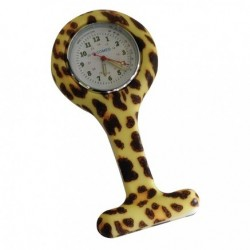 MONTRE INFIRMIERE SILICONE LEOPARD