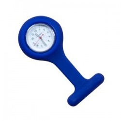 MONTRE INFIRMIERE SILICONE BLEUE
