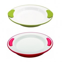 ASSIETTE PLATE ISOTHERME VITAL ROUGE