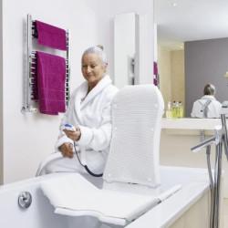 Elévateur de bain KOGIA, avec dossier inclinable - Blanc