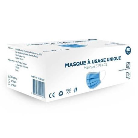 Masque chirurgical médical 3 plis type 2 R