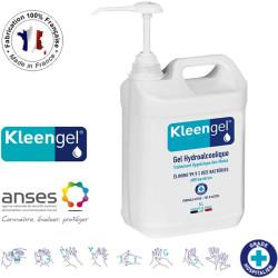 Gel Hydroalcoolique et Antibactérien 5l avec pompe - Kleengel®