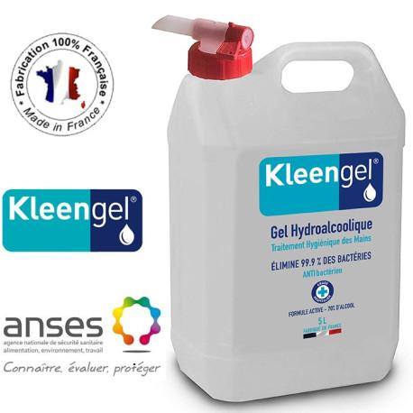 Gel Hydroalcoolique et Antibactérien 5L avec Robinet - Kleengel®