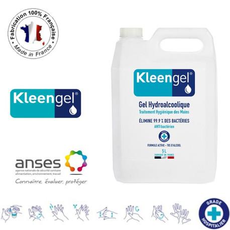 Gel Hydroalcoolique et Antibactérien 5l sans pompe - Kleengel®