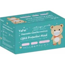 Lot de 50 Masques Chirurgicaux Enfant Roses avec motifs - YaFei