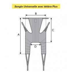 SANGLE UNIVERSELLE AVEC TETIERE PLUS