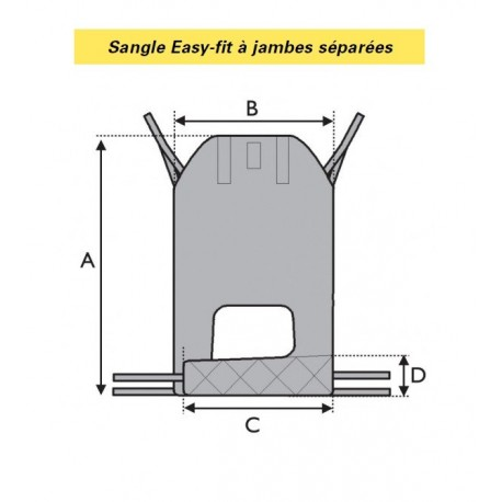 SANGLE EASY-FIT A JAMBES SEPAREES