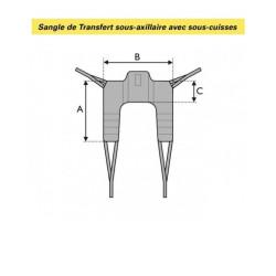 SANGLE DE TRANSFERT SOUS-AXILLAIRE AVEC SOUS-CUISSES