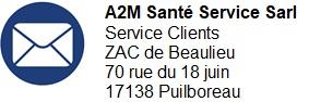 A2M Santé Service Sarl, Service Clients-ZAC de Beaulieu, 70 rue du 18 Juin - 17138 Puilboreau
