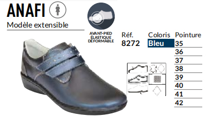 Chaussures Anafi bleu - gibaud