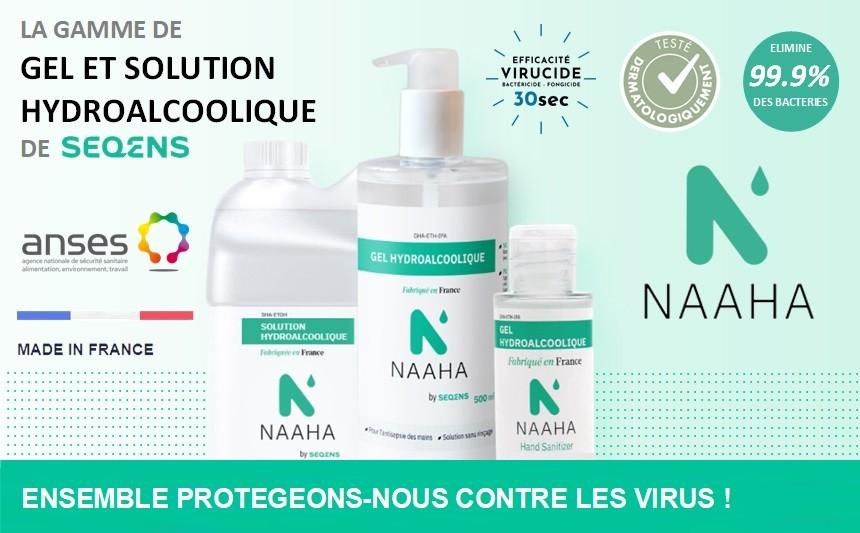 Gels et solutions Hydroalcooliques NAAHA by SEQENS