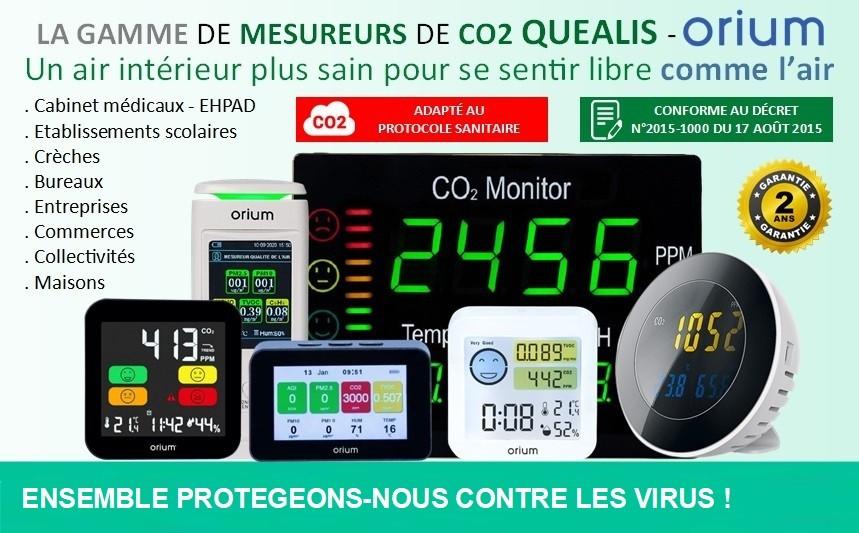 Mesureur de CO2 Quealis